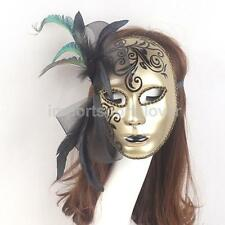 Venetian Mardi Gras Masquerade Ball Costume Party Mask With Flower/Feather