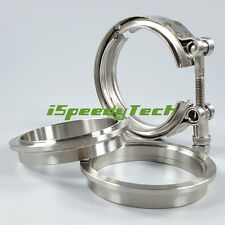 V-Band Flange Kit 3.5'' 3.5 Inch V Band Clamp 89 mm for Turbo Exhaust Downpipe
