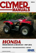 1997-2016 Honda TRX250 Recon ES ATV Repair Manual by Clymer : M446-4