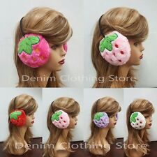 Women Strawberry Faux Fur Winter Ear Warmer Earmuffs Ear Muffs Earlap Headband