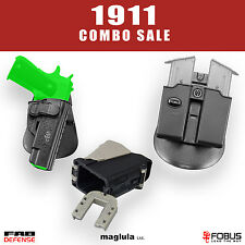 Fobus Maglula KIT SALE for 1911 Without Rail: Holster + Mag Pouch + Speed Loader