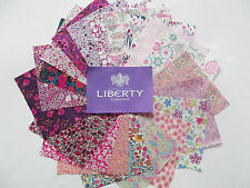 "20 'All Pink' Liberty Tana Lawn Fabric Patchwork 5"" Squares"