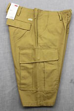 LEVIS RARE Mens BEIGE KHAKI RELAX FIT COTTON CARGO SHORTS NWT 40 38 34 30
