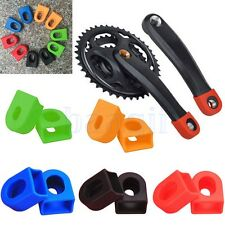 4X Silicone Crankset Crank Arm Protector Case Cover Cap MTB Road Bike Bicycle DA