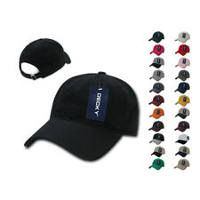 6 LOT DECKY Washed Cotton Polo Low Crown 6 Panel Caps Hats Wholesale