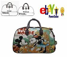 New Mickey Mouse Vintage Holdall Trolley Bag Travel Case Hand Luggage two sizes.