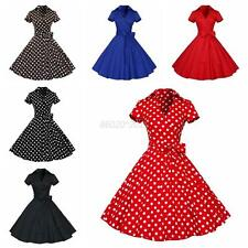 Retro Chic Polka Dots Party Women Cocktail Pinup Rockabilly Swing Dress Sundress