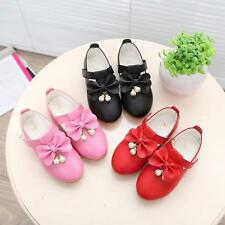 Fashion New Fall Winter Kids Toddlers Young Girls Cute Bow School Leather Shoes