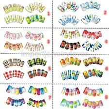 20Sheet/set Flower Grid Nail Art Water Decal Transfer Decoration Sticker Polish