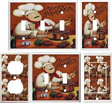FAT CHEF KITCHEN DECOR LIGHT SWITCH COVER PLATE OR OUTLET V878