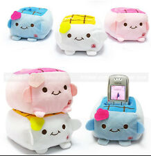 1Pcs Cute Cartoon Tofu Moblie Phone Holder Plush Seat Cell Phone Protect Block