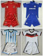 boys Kids Jersey World Cup National Team  Football Sets 3-14 years