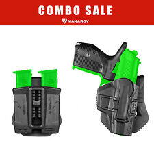 Makarov PM  PMM Combo - Magazine Release Grip & Holster & Double Magazine Pouch