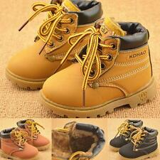 Boys Toddler Winter Warm Snow Boots Casual Fur Lined Shoes Kids Baby Girls
