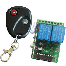 RF DC12V 2 Channel Wireless Remote Control Switch Receiver Contoller #JY