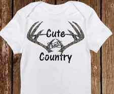 Adorable Cute & Country Camo Deer - Daddy's Hunting Buddy Baby Girl/Boy Onesie