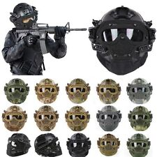 Tactical Airsoft Paintball Helmet Mask Googles G4 System Metal Mesh Full Guard