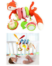 fox dog baby infant activity spiral toy cot bed pram hanging developmental toy