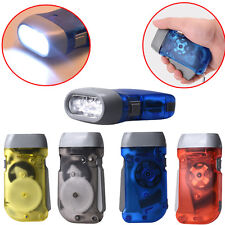Outdoor Wind up Hand Pressing Crank Emergency Camping LED Flashlight Torch Light