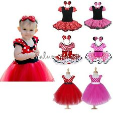Halloween Baby Girls Minnie Mouse Fancy Dress Costume Polka dot Outfit Cosplay