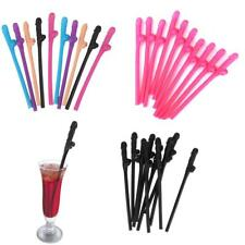 10Pcs Hen Night Party Supplies Novelty Willy Penis Drinking Straw