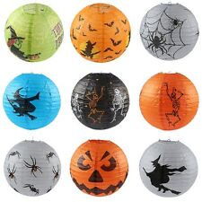 Halloween Paper Pumpkin Witch Spider Hanging Lantern Light Lamp Party Club Decor