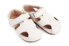 NEW Pre-walker leather Sunday sandals in white Girl's by SKEANIE