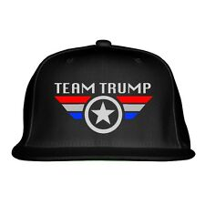 Team Trump Embroidered Snapback Hat By Customon