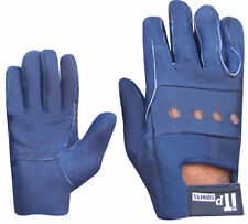 Leather Driving Gloves Soft Hand Protection Gloves Ladies Navy Blue S-M.L-XL