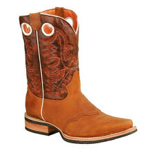 New Mens Tan Rodeo Collection Western Cowboy Boots BONANZA 4000 Size 6-12 (D, M)