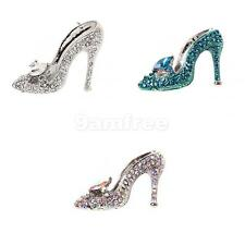 Women's Ladies Crystal Rhinestone High Heeled Shoes Fashion Brooch Pin 3 Color