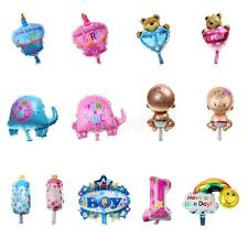 10 Baby Shower Birthday Newborn Party Balloons Decorations Assorted Foil