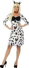 Womens Fancy Party Dress Farm Animal Outfit Halloween Cosplay Sexy Cow Costume
