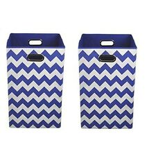 Modern Littles Organization Bundle Laundry Bins, Bold Blue Chevron, 2 Count