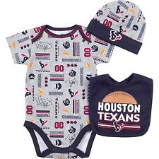 Houston Texans NFL Infant/Baby Team 3-pc Bodysuit,Bib,Cap Set: 3/6m