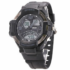 OHSEN Men's Sport LCD Light Analog Date Digital Rubber Wrist Watch US Warehouse