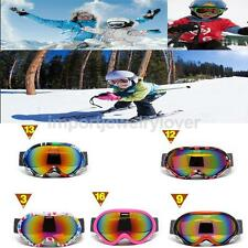 Adult Ski Goggles, Snowmobile Snowboard Skate Snow Skiing Goggles UV Protection