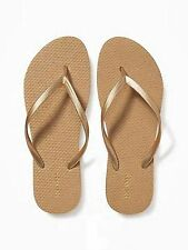 FLIP FLOPS WOMENS Old Navy Thong Sandals Shoes Flat Black and White