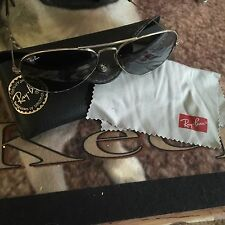 Ray Ban RB 3025 001/58 58mm Polarized Green Lens Gold Aviator Sunglasses