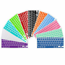 """Colorful Soft Silicone Keyboard Skin Protector Cover For MacBook Pro 13"""" 15"""" 17"""