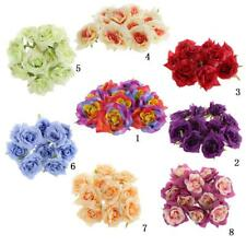 10x Chinese Rose Heads Artificial Silk Flower Party Wedding Home Decorations 7cm
