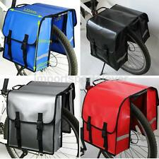 WATERPROOF DOUBLE BICYCLE CYCLE TAIL SEAT PANNIER BAG REAR BIKE RACK CARRIER