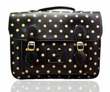 Ladies School Satchel Bag Polka Dot Large A4 Vintage Work Briefcase Shoulder Bag