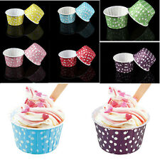 20 Pcs Mini Paper Cake Cup Liners Baking Cupcake Cases Muffin Cake Colorful HIAU