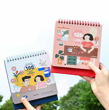 Du-dum 100 Days Planner Diary Scheduler Journal Notebook Korean Daily Stand Book