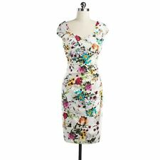 New Women Vintage Retro Rockabilly Floral Pinup 50s 60s Party Swing V Neck Dress