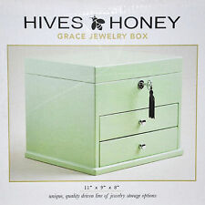 Hives & Honey Green or White Jewelry Box