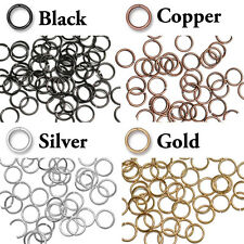 100 Pack - 8mm ID Open Jump Rings - 18 GA - TierraCast - choose from 4 colors