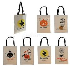 Women Cotton Handbag Shopping Canvas Tote Shoulder Bags Halloween Decor Gift Bag