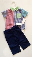 NEW WITH TAG RALPH LAUREN POLO BABY BOY TWO PIECE SET SZ 24 MONTHS